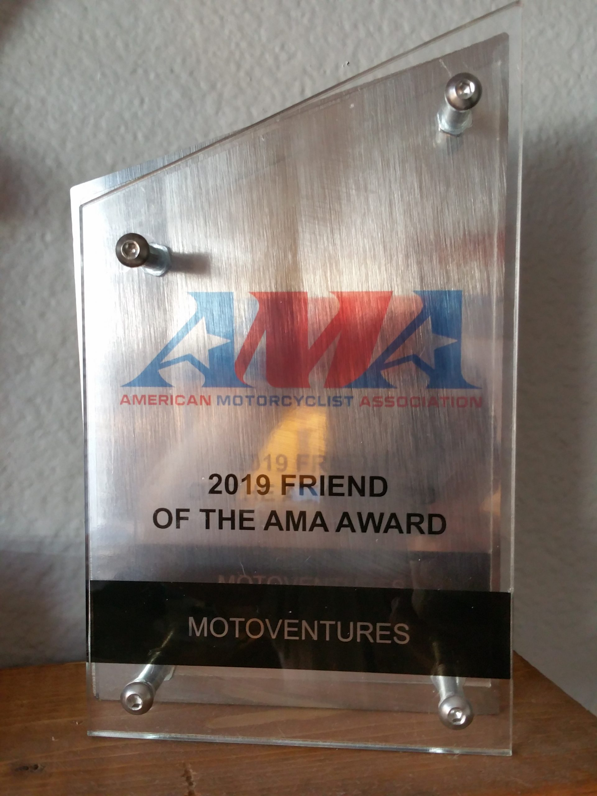 MOTOVENTURES 2019 Friend of the AMA Award