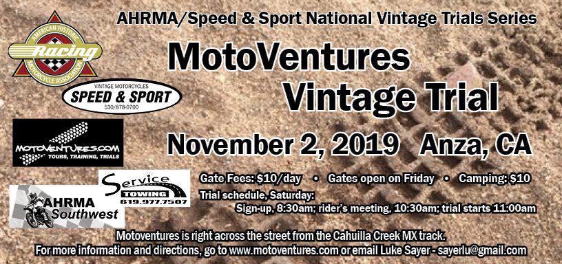 MotoVentures Vintage Trials - November 2019