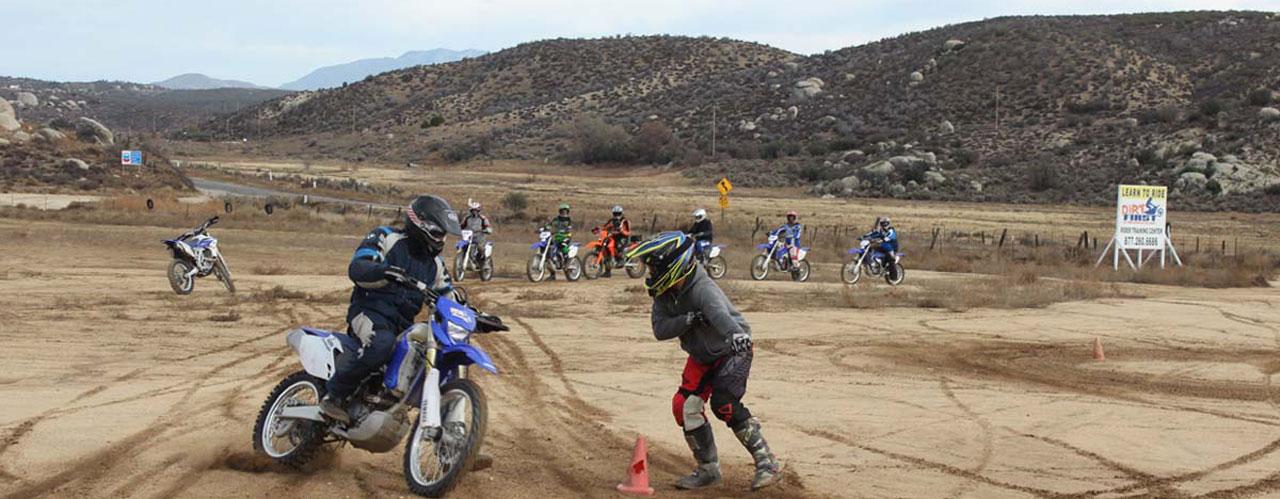 Sliding at Motorcycle Riding School