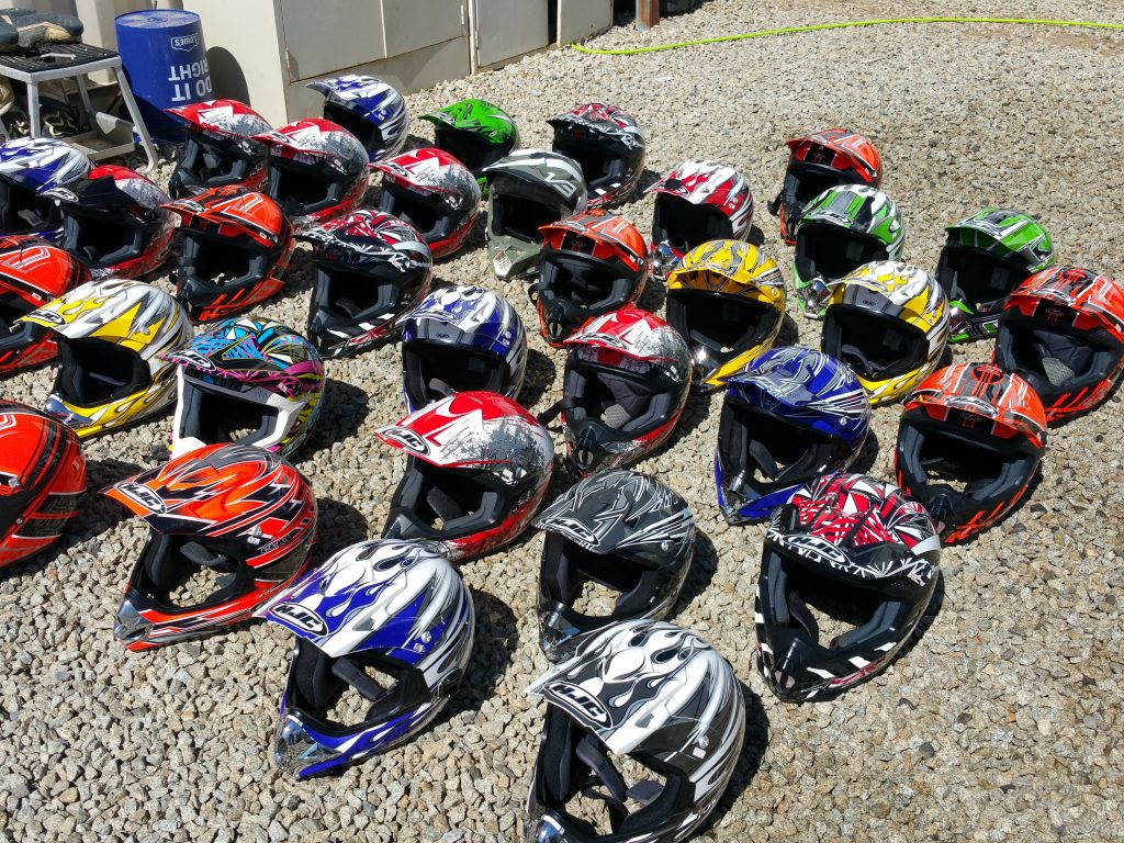 Clean Motorcycle Helmets