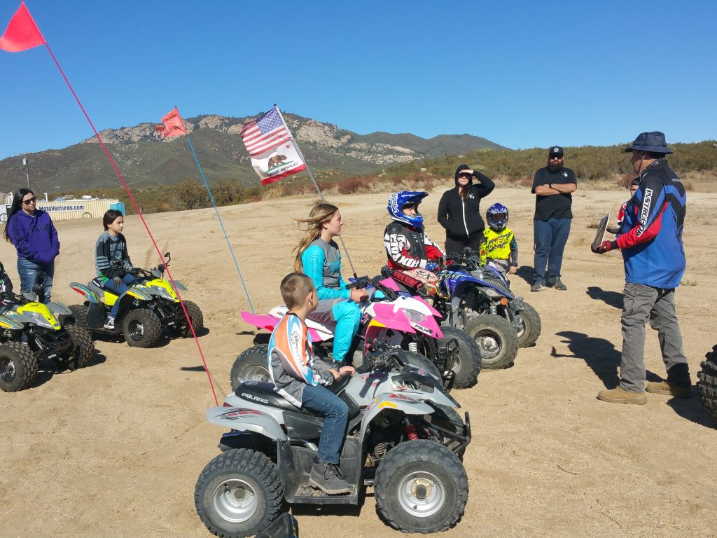 Kids on ATVs at MOTOVENTURES